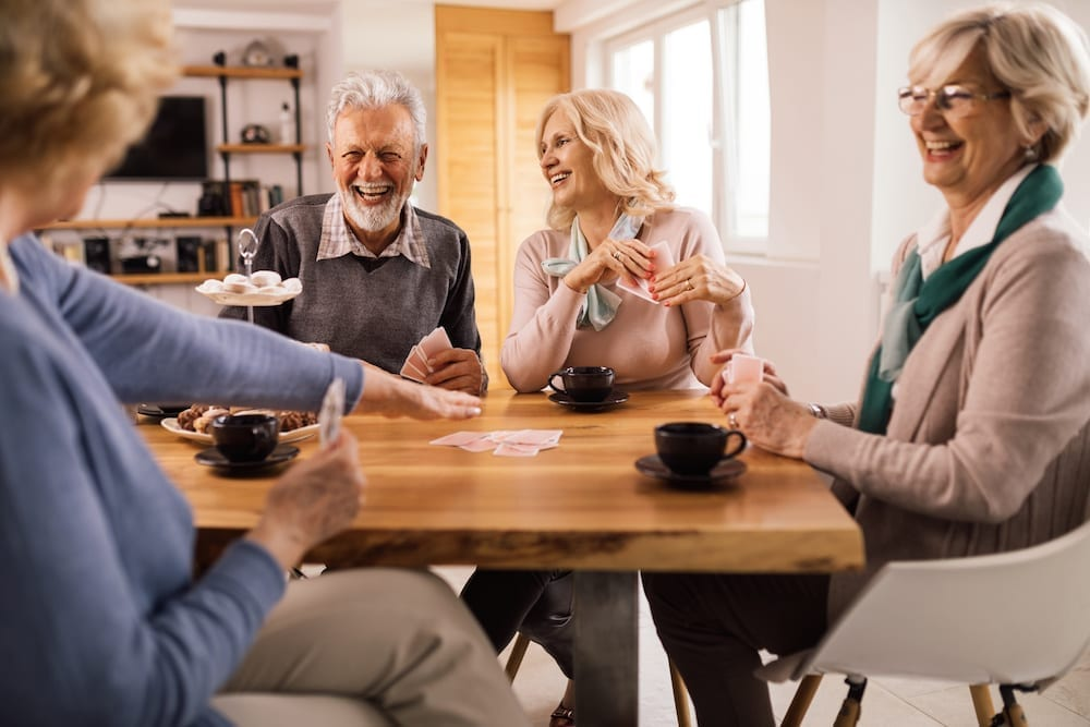 The Early Signs of a Hearing Loss Friends Talking